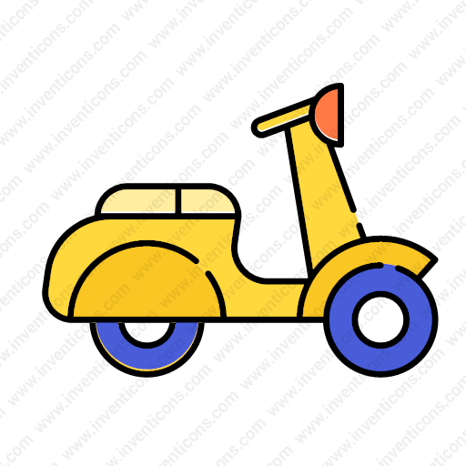 Download Transport,motorcycle,lineal,color Icon Inventicons