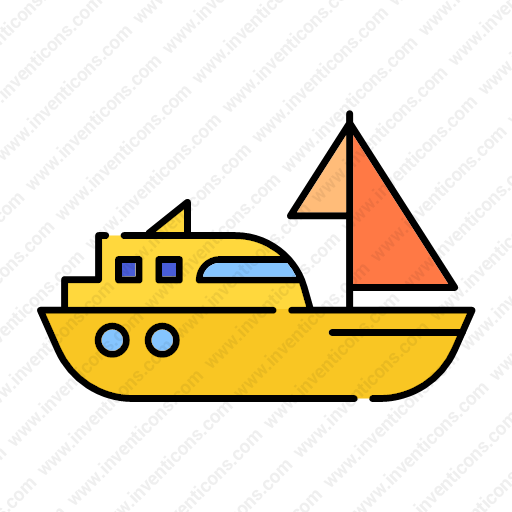 Download Transport,sailingboat,lineal,color Icon Inventicons