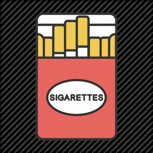 Cigaret, Cigarette, Cigarettes, Pack, Smoke, Smoking, Tobacco Icon