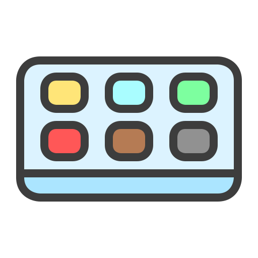 Color, Palette Icon Free Of The Art Tools Colored