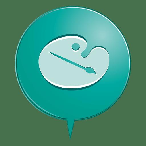 Color Palette Bubble Icon