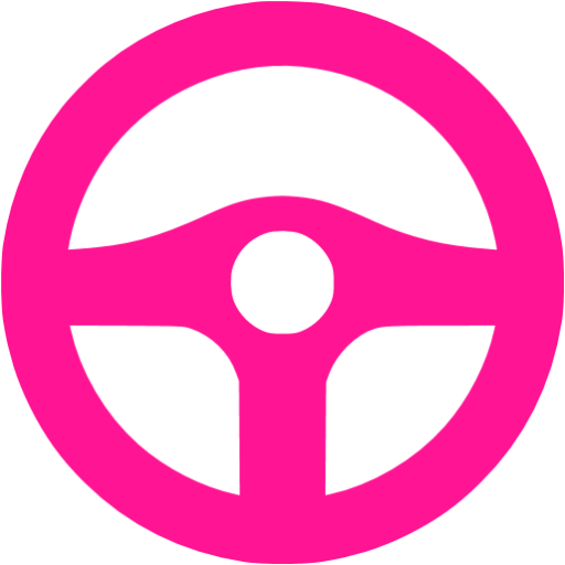 Deep Pink Steering Wheel Icon