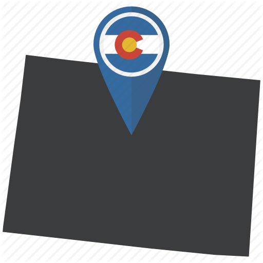 American, Colorado, Flag, Map, Pin, State, United States Icon