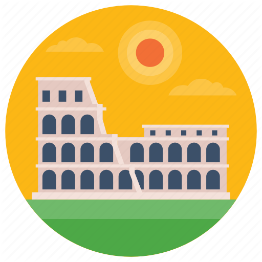 Amphitheatre, Colosseum, Landmark, Monument, Roman Colosseum Icon