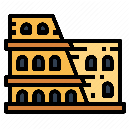 Architecture, Colosseum, Gladiators, Rome Icon