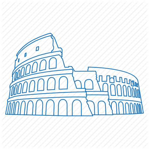 Architecture, Colosseum, Iconic, Roman, Rome, Ruins Icon