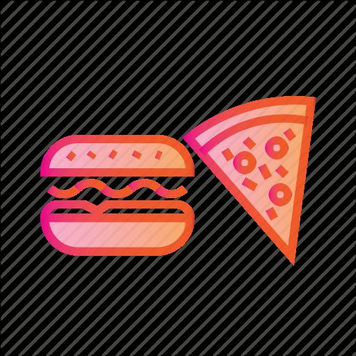 Burger And Pizza, Combo, Eating, Food, Hamburger, Junk Food Icon