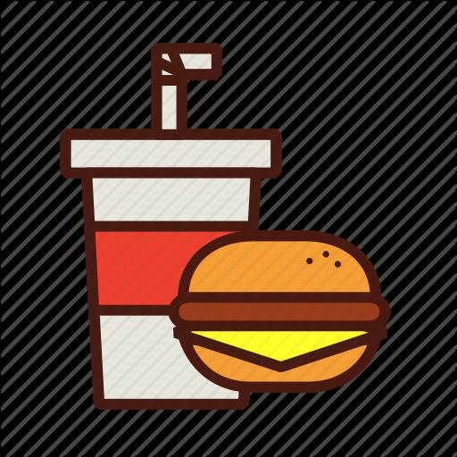 Cheeseburger, Combo, Fast, Food, Meal, Soda Icon