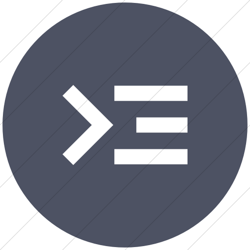 Flat Circle White On Blue Gray Raphael Command Line Icon
