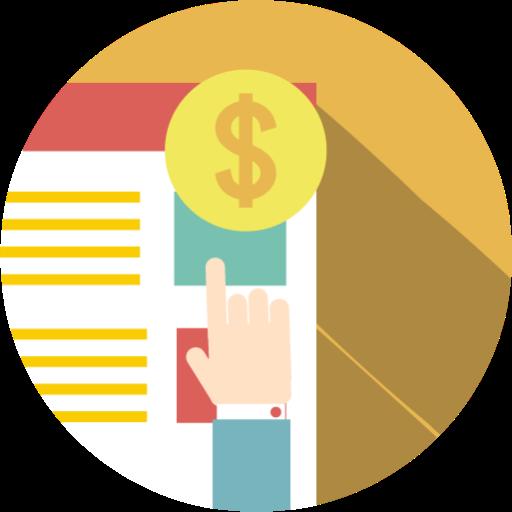 Pay, Per, Click, Ppc, Finances, E Commerce Icon Free Of Seo