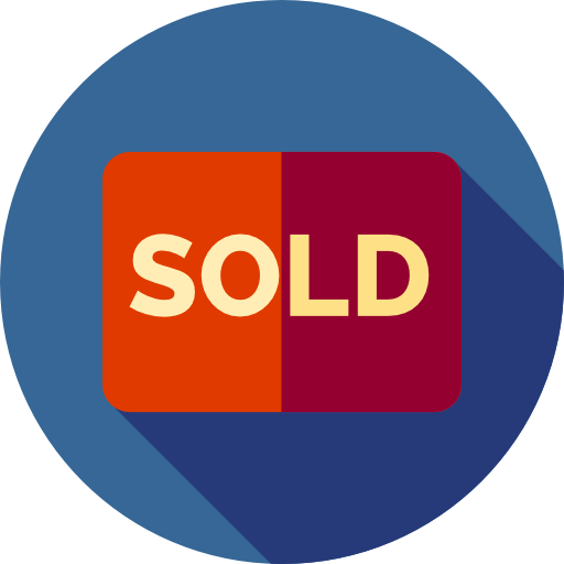 Sold, Business, Signal, Commercial, Hanging, Sign, Real Estate Icon
