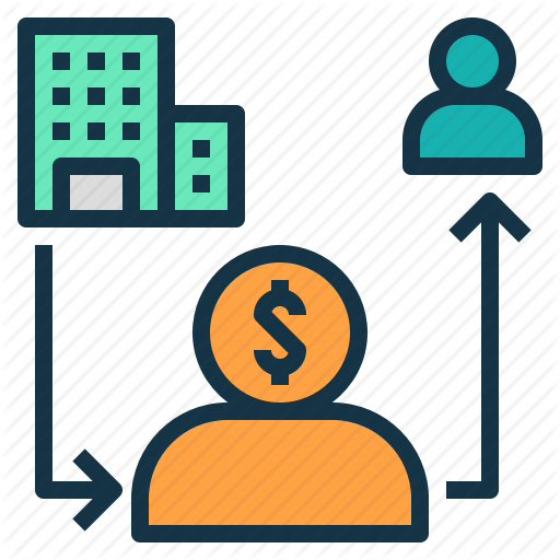 Agent, Commission, Company, Middleman, Money Icon