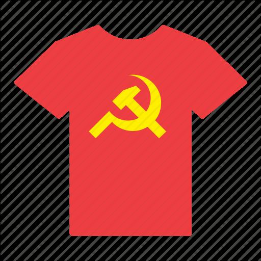 Communism, Communist, Flag, Hammer, Shirt, Sickle, T Shirt Icon