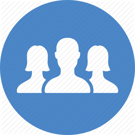 Blue, Circle, Community, Friends, Group, Network, Team Icon