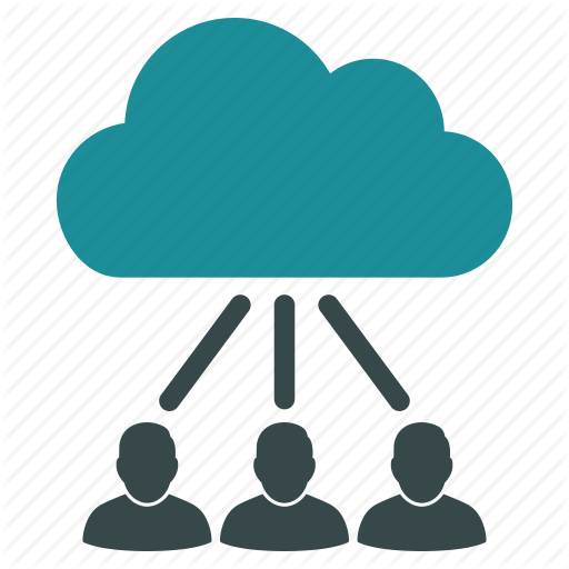 Cloud, Community, Customers, Hierarchy, Online, User Group, Users Icon