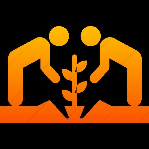 Simple Orange Gradient Iconathon Community Garden Icon