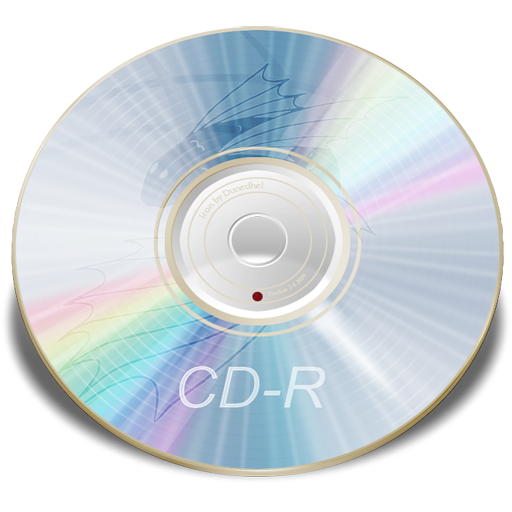 Cd Rom Blue Icons, Free Icons In Kaori