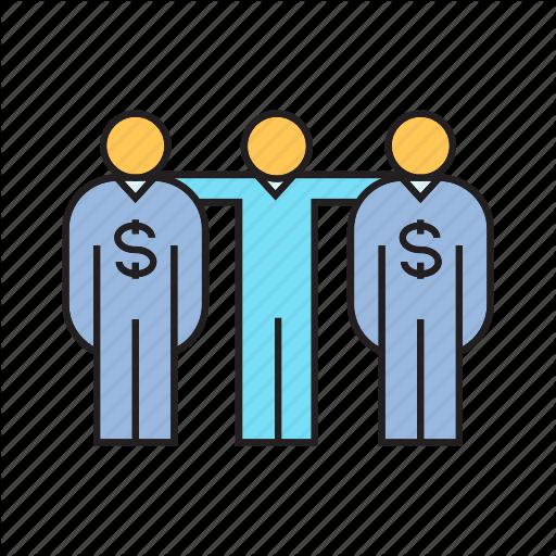 Agent, Banker, Broker, Dealer, Dollar, People, Team Icon