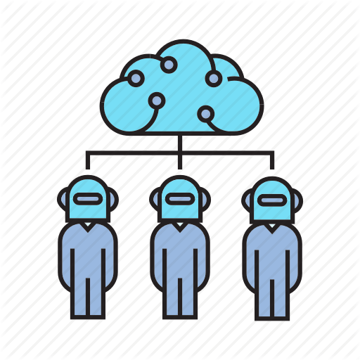 Artificial Intelligence, Cloud, Humanoid, Robot, Robotics Icon