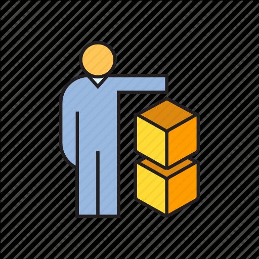 Box, Cube, People Icon