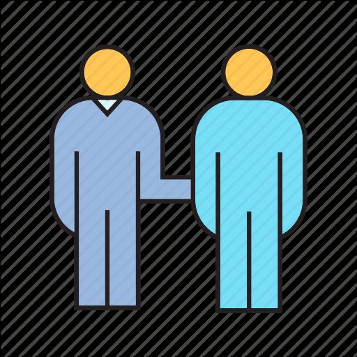 Colleague, Communication, Companion, Friend, People, Workmate Icon