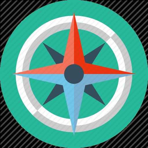 Compass, Rose, Safari, Wind Icon
