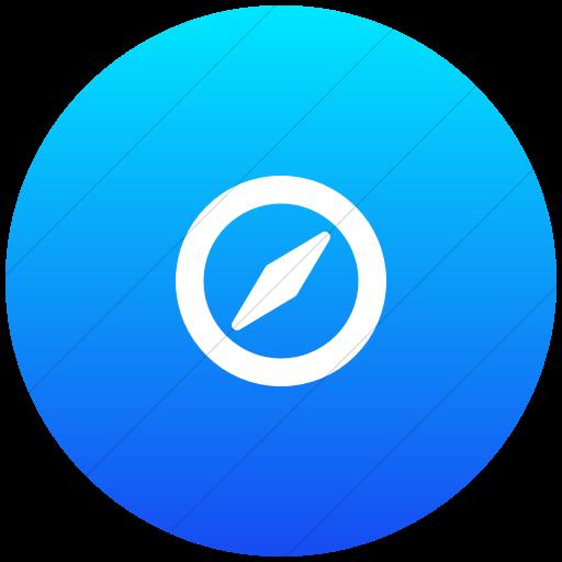 Flat Circle White On Ios Blue Gradient Foundation