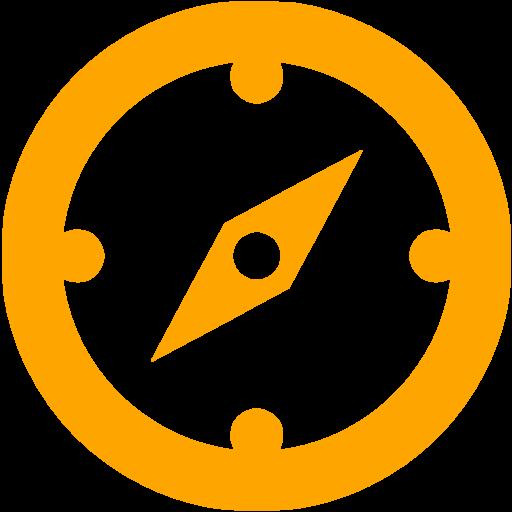 Orange Compass Icon