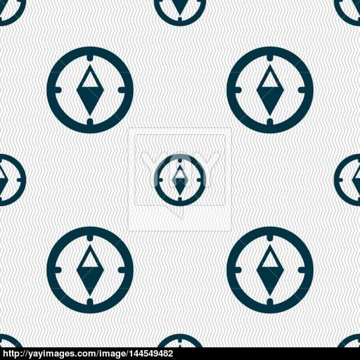 Compass Sign Icon Windrose Navigation Symbol Seamless Abstract