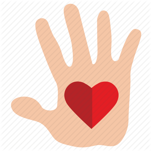 Charity, Compassion, Gift, Hand, Heart, Mercy Icon