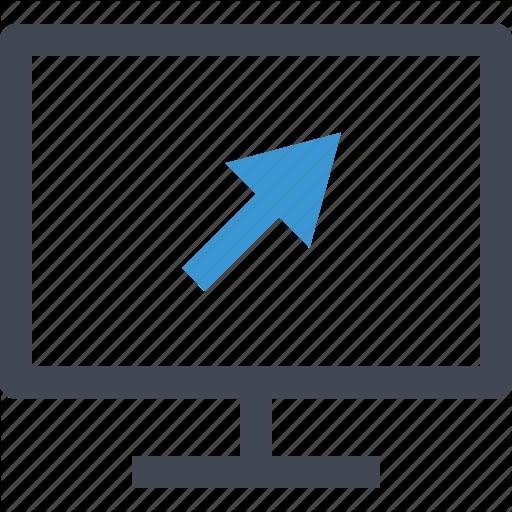 Arrow, Click, Computer, Mouse, Online, Screen, Web Icon