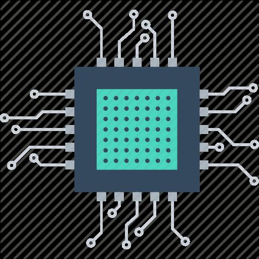 Chip, Computer, Cpu, Electronics, Hardware, Microchip, Processor Icon