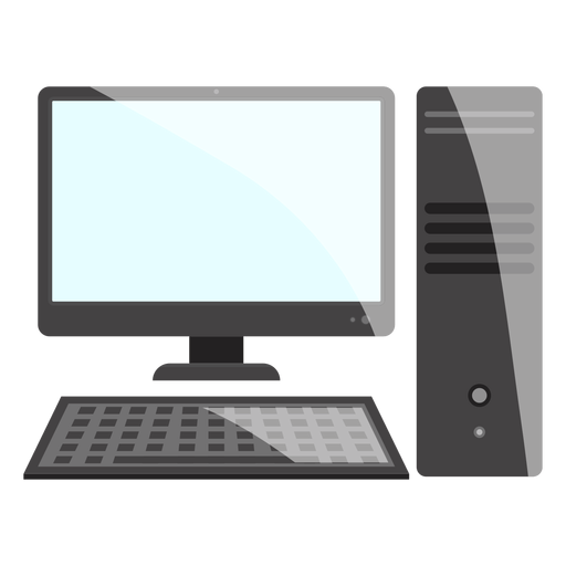 Black And White Computer Desktop Icon