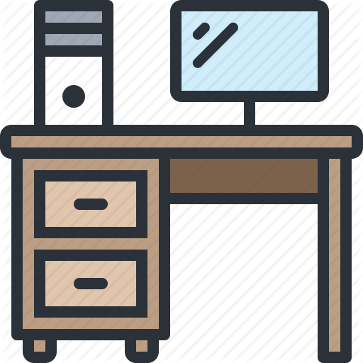 Computer, Desk, Desktop, Furniture, Home, Household, Pc Icon