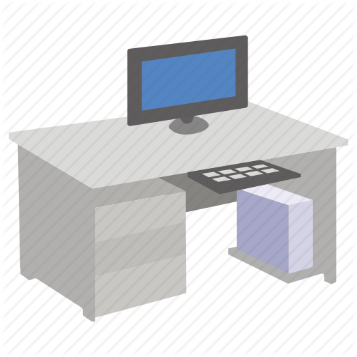 Computer, Desk, Ergonomic, Furniture, Office, Study, Workstation Icon