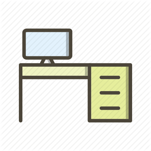 Computer, Desk, Table Icon