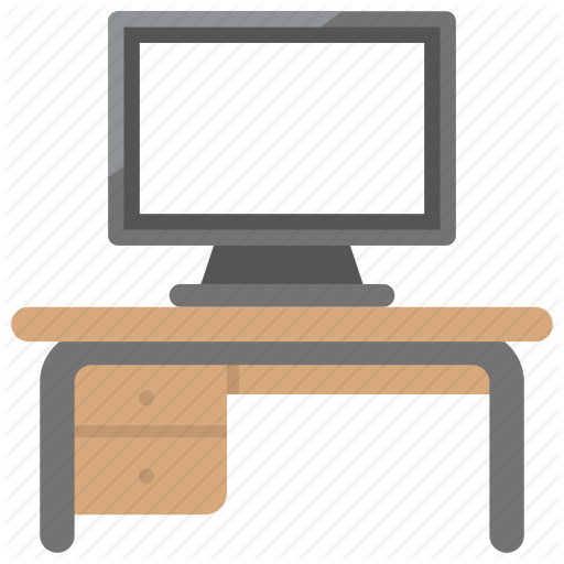 Computer Desk, Furniture, Home Office, Office Desk, Work Desk Icon