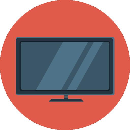 Flat Tv Icon Flat Iconset Flat