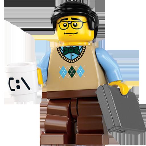 Computer, Guy, Lego Icon