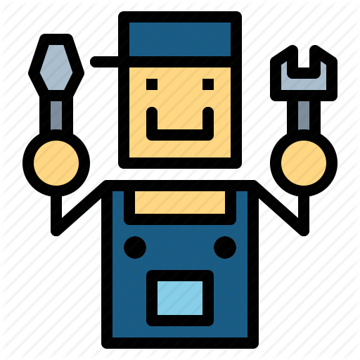 Guy, Male, Man, Repair, Wrench Icon