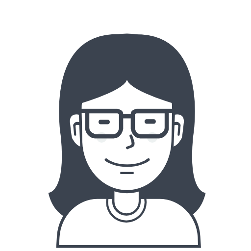 Woman With Glasses, Girl, User, Person Icon Free Of User