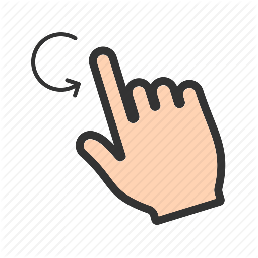 Computer, Finger, Hand, Laptop, Mouse, Rotate, Scroll Icon