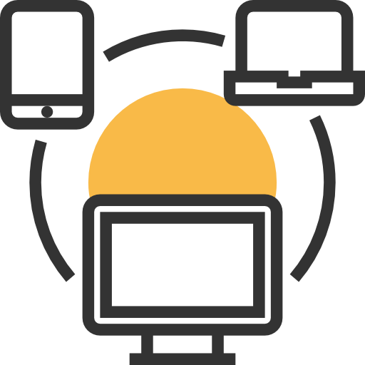 Laptop, Tablet, Computer, Networking, Connection, Network Icon