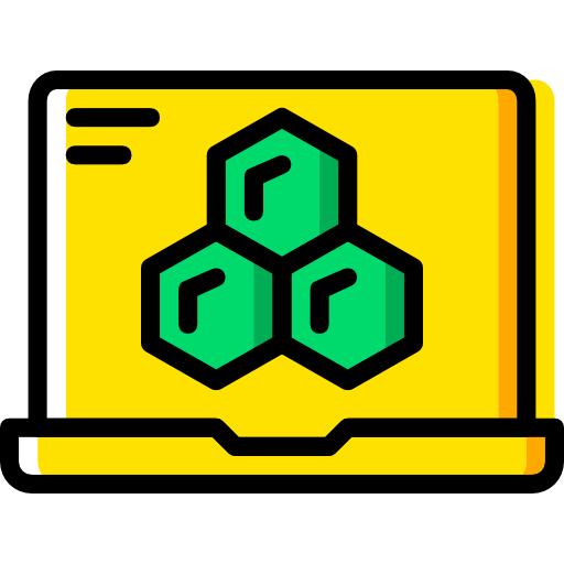 Flat Science Gold Icon