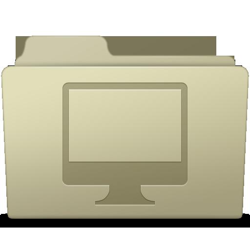 Computer Folder Ash Icon Smooth Leopard Iconset Mcdo Design