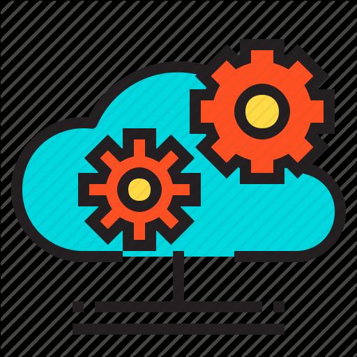 Cloud, Computer, Gear, Hardware, Service Icon