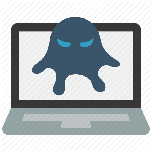 Computer, Infected, Laptop, Malware, Virus Icon