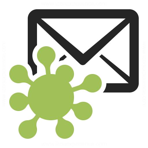 Mail Virus Icon Iconexperience