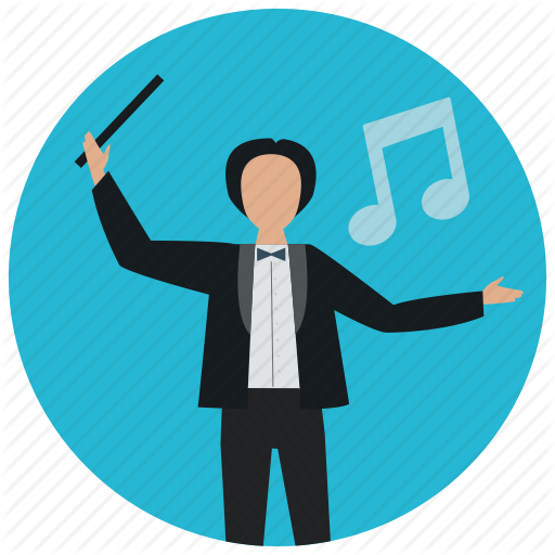 Conductor, Director, Entertainment, Music, Orchestra, Symphony Icon