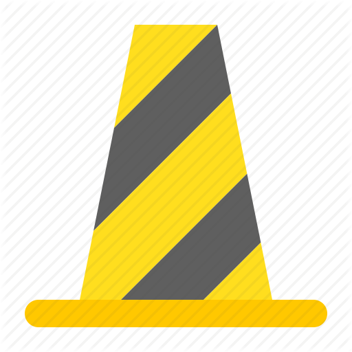Building, Construction, Equipment, Protective, Traffic Cone Icon